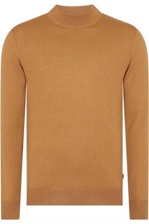 Remus Men Turtlenecks - Uomo Knited Turtle Neck Swearshirt Camel Colour: Camel