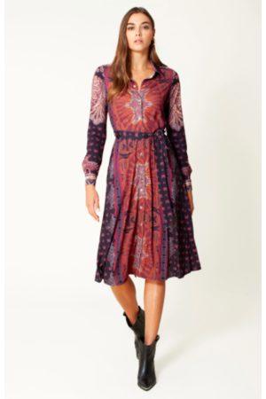 Hale Bob Women Midi Dresses - 6942 Elena Midi Dress - Maroon