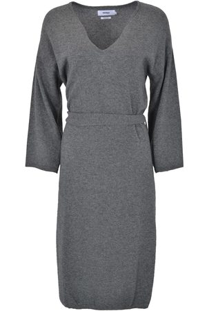 Not Shy 3703025 Sweater Dress with Belt Anthracite