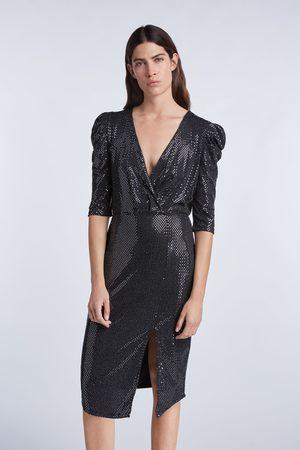 SET Metallic Draped Dress