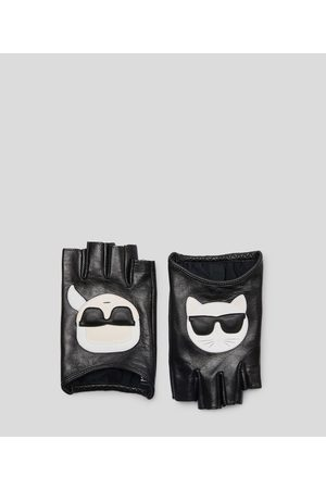 Karl Lagerfeld K/Ikonik Leather gloves