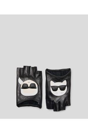 Karl Lagerfeld Women Gloves - K/Ikonik Leather gloves