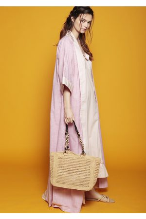 MARAINA LONDON MADELEINE raffia bag in natural beige