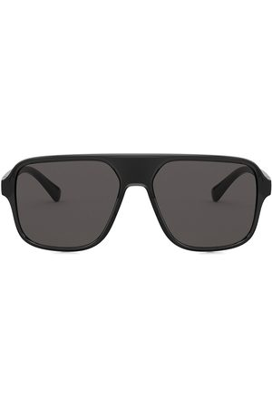 Dolce & Gabbana Step injection aviator-frame sunglasses