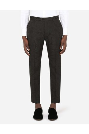 Dolce & Gabbana Trousers and Shorts - FLORAL JACQUARD PANTS male 48