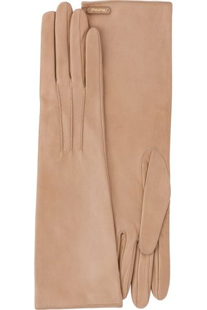 Miu Miu Stitching detail long gloves - Neutrals