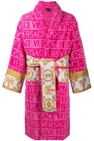 VERSACE Bathrobes - Barocco-panel logo devoré robe