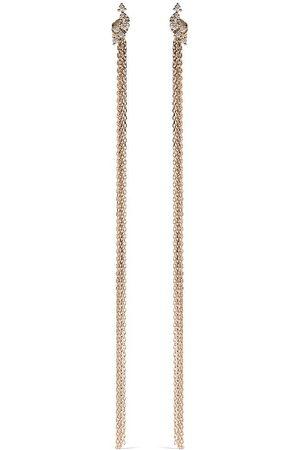 Mizuki Women Earrings - 14kt yellow diamond Sea of Beauty chains stud earrings
