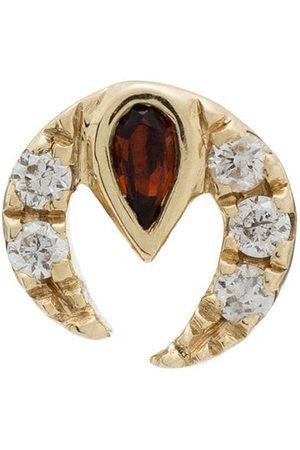 Anissa Kermiche 9K yellow ruby diamond earring