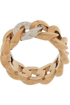 Versace Medusa chain ring
