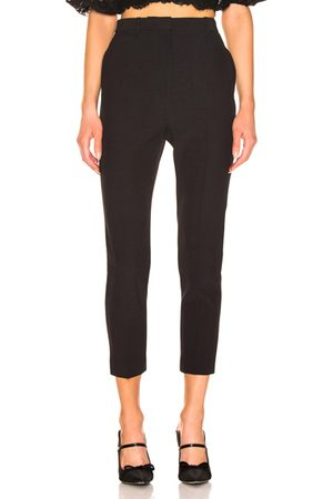 Alexander McQueen High Waisted Cigarette Pant in