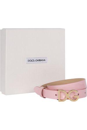 Dolce & Gabbana Kids Logo Leather Belt