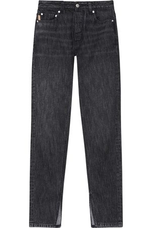 Ganni Washed Cotton Denim Straight Jeans