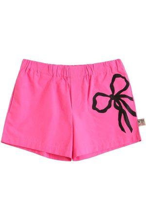 Nº21 Cotton Sweat Shorts W/ Bow Appliqué