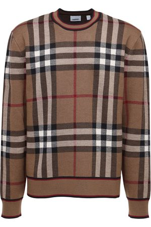 Burberry Naylor Check Merino Wool Knit Sweater