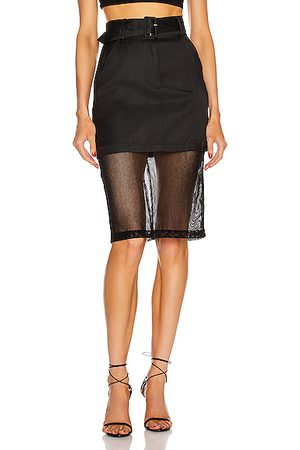 FLEUR DU MAL Sheer Pencil Skirt in