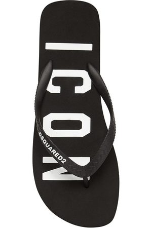 Dsquared2 Icon Print Rubber Flip Flops