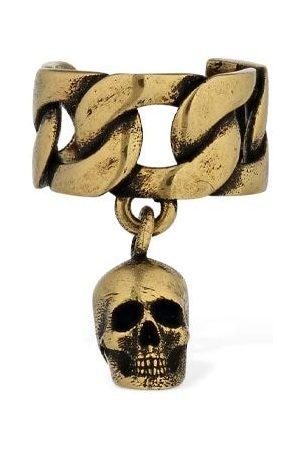 Alexander McQueen Chain Mono Ear Cuff W/ Skull