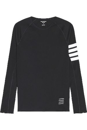 Thom Browne 4 Bar Compression Tee in Charcoal
