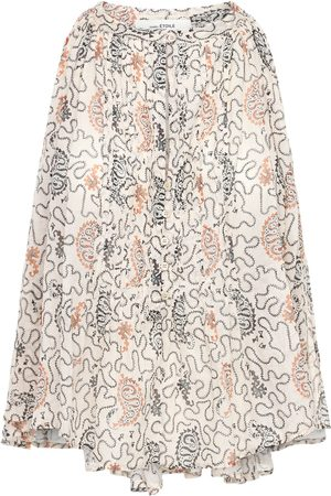 Isabel Marant Abiti Printed Cotton Top