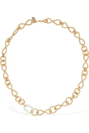 MAGDA BUTRYM Bacopa Short Necklace W/ Crystal Detail