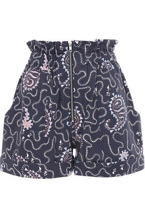 Isabel Marant Nawel Printed Cotton Shorts