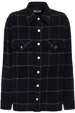 Isabel Marant Faxonli Check Wool Blend Jacket