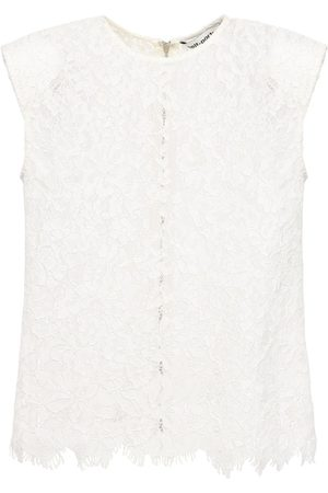 Self-Portrait Sleeveless Cord Lace Top