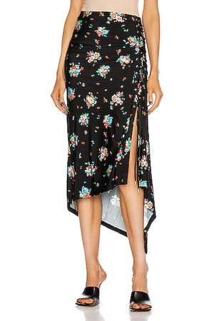 Paco rabanne Ruched Midi Skirt in 90's Grungy Romant