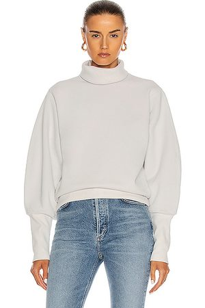 AGOLDE Extended Rib Sweatshirt in Paper Mache