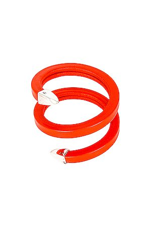 Bottega Veneta Leather Snake Bracelet in