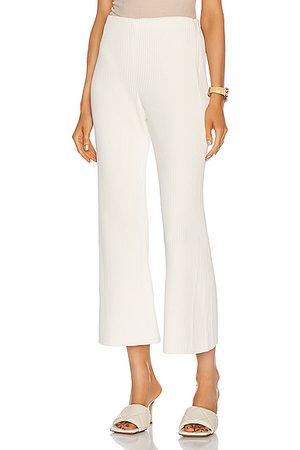 Proenza Schouler Chunky Rib Crop Flare Pant in Off
