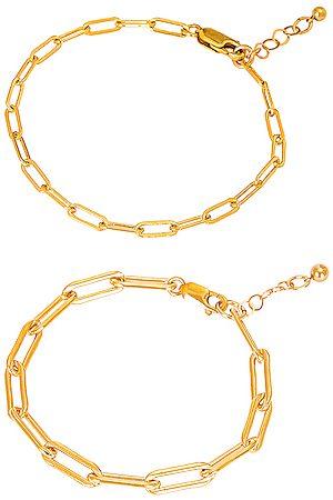 Jordan Road Jewelry For FWRD Le Duo Bracelet Stack in