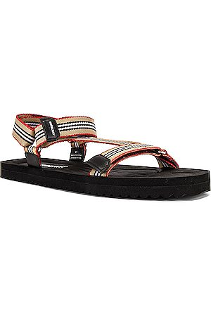 Burberry Patterson Webbing Sandal in Archive