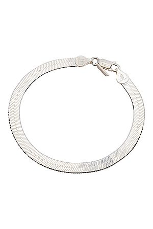 LOREN STEWART XL Herringbone Bracelet in Sterling