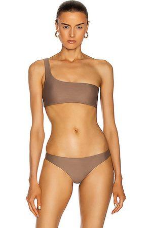 Jade Swim Apex One Shoulder Bikini Top in Nude