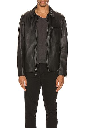 Schott NYC Collar Lamb Leather Jacket in