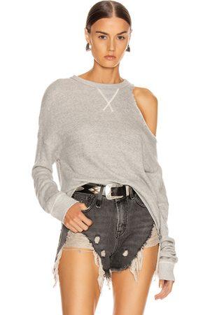 R13 Distorted Sweatshirt in Heather