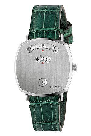 Gucci 157MD Watch in & Alligator