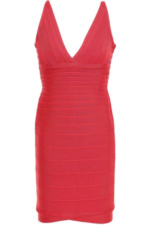 Hervé Léger Women Dresses - Hervé Léger Woman Lauren Bandage Mini Dress Papaya Size L