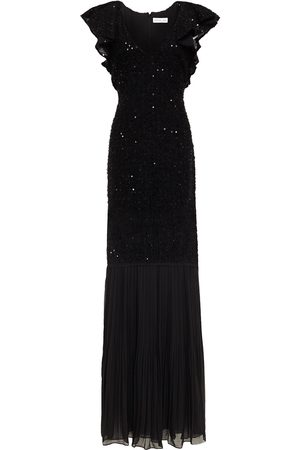 Rachel Zoe Woman Sequined Tinsel And Chiffon Gown Size 0