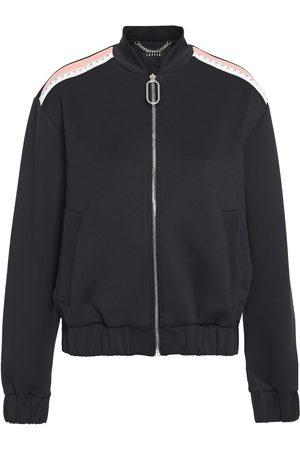 Markus Lupfer Women Bomber Jackets - Woman Josie Embellished Color-block Jersey Bomber Jacket Size XL