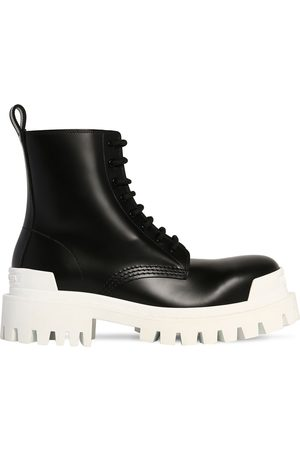 Balenciaga 60mm Strike Leather Combat Boots