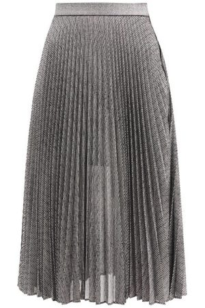 Christopher Kane Dna Pleated Metallic Tulle Midi Skirt - Womens