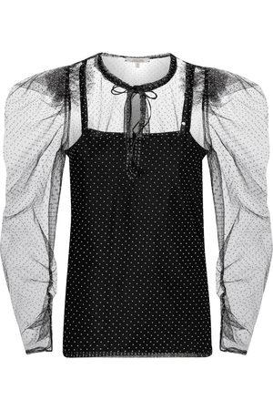 Dorothee Schumacher Playful Transparency polka-dot blouse