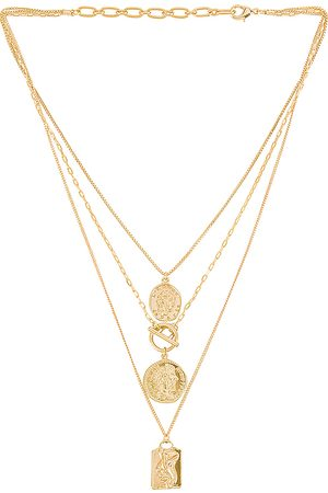 Amber Sceats Layered Coin Necklace in .
