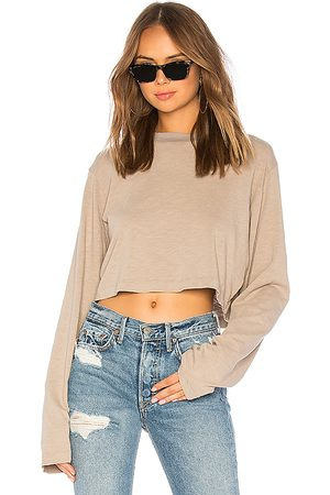 Cotton Citizen The Tokyo Crop Long Sleeve Tee in . Size M, S, XS.