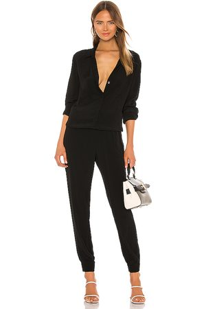 MONROW Crepe Long Sleeve Jumpsuit in . Size M, S, XS.