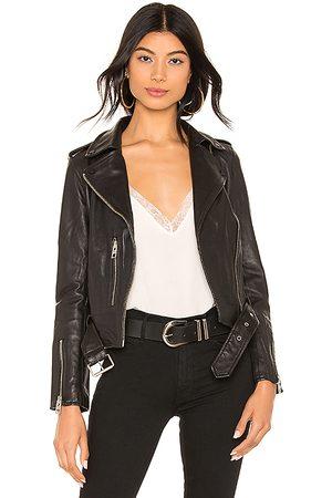 AllSaints Balfern Leather Biker Jacket in . Size 2, 4, 8.