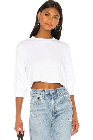 Cotton Citizen Tokyo Long Sleeve Crop Tee in . Size M, S, XS.